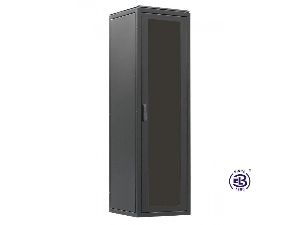 Rozvaděč stojanový LC-06+, 24U, 600x800, BK sleněné dveře
