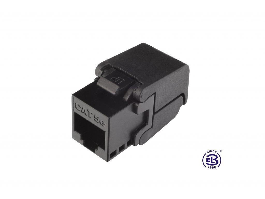 Keystone samořezný Cat5E UTP RJ45 černý SOLARIX
