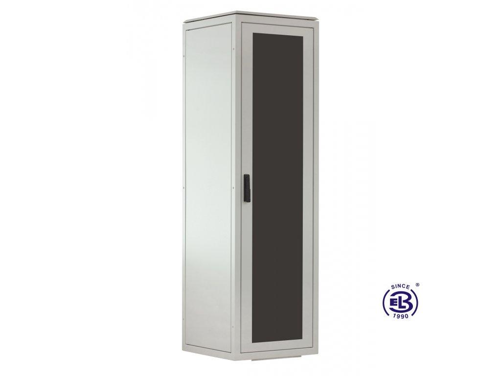 Rozvaděč stojanový LC-06+, 24U, 600x800, šedý, skleněné dveře