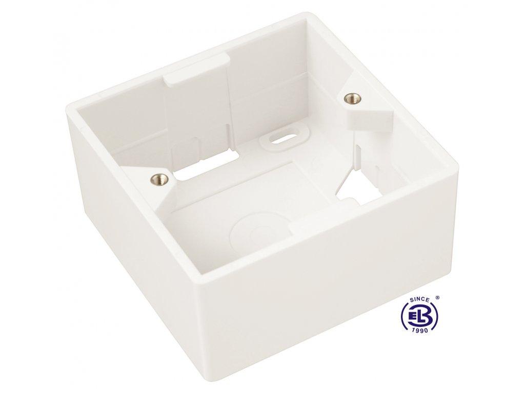Box na omítku pro modulární zásuvky SX5 bílý