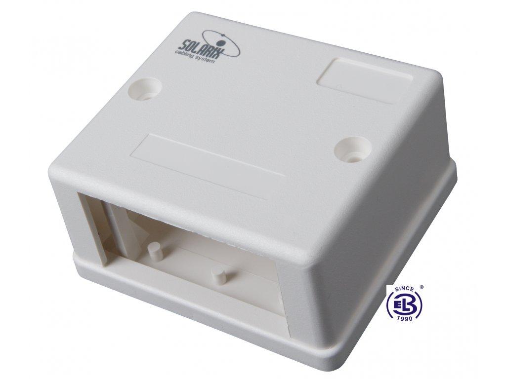 Zásuvka modulární 1-2xRJ45 bílá na omítku SOLARIX