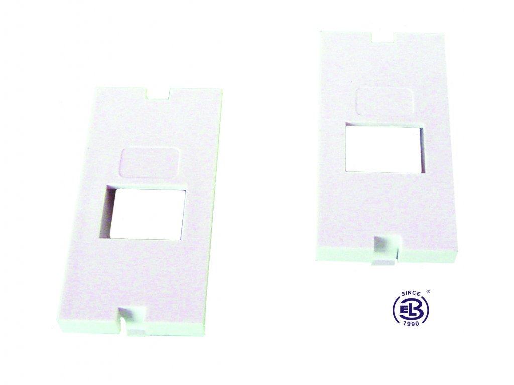 Čelo pro modulární zásuvku SX5 svislé bílé SOLARIX 25x50
