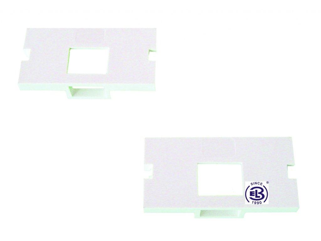 Čelo pro modulární zásuvku SX3 pro 1 keyston bílé SOLARIX 25x50mm