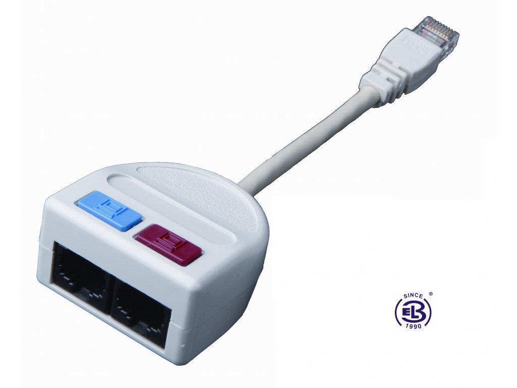 Rozdvojka počítač/počítač 2xRJ45 UTP T-MOD 3-U5