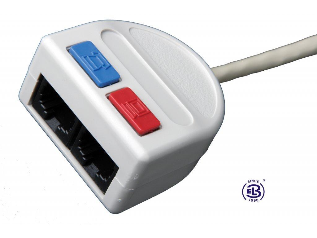 Rozdvojka počítač/telefon 2xRJ45 UTP T-MOD 3-U4