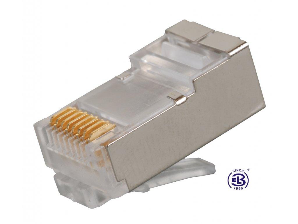 Konektor RJ45 Cat6 STP 8p8c stíněný skládaný na licnu KRJ45/6SH SOLARIX