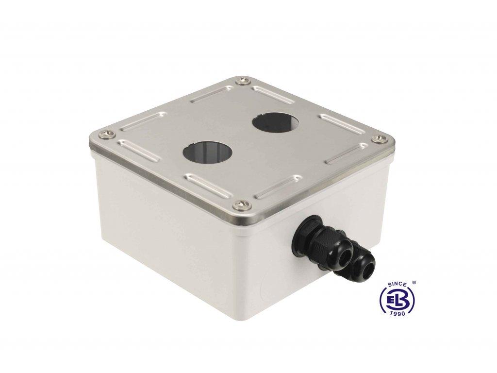Box průmyslový s nerez čelem pro 2x zásuvkový modul IP67 SOLARIX