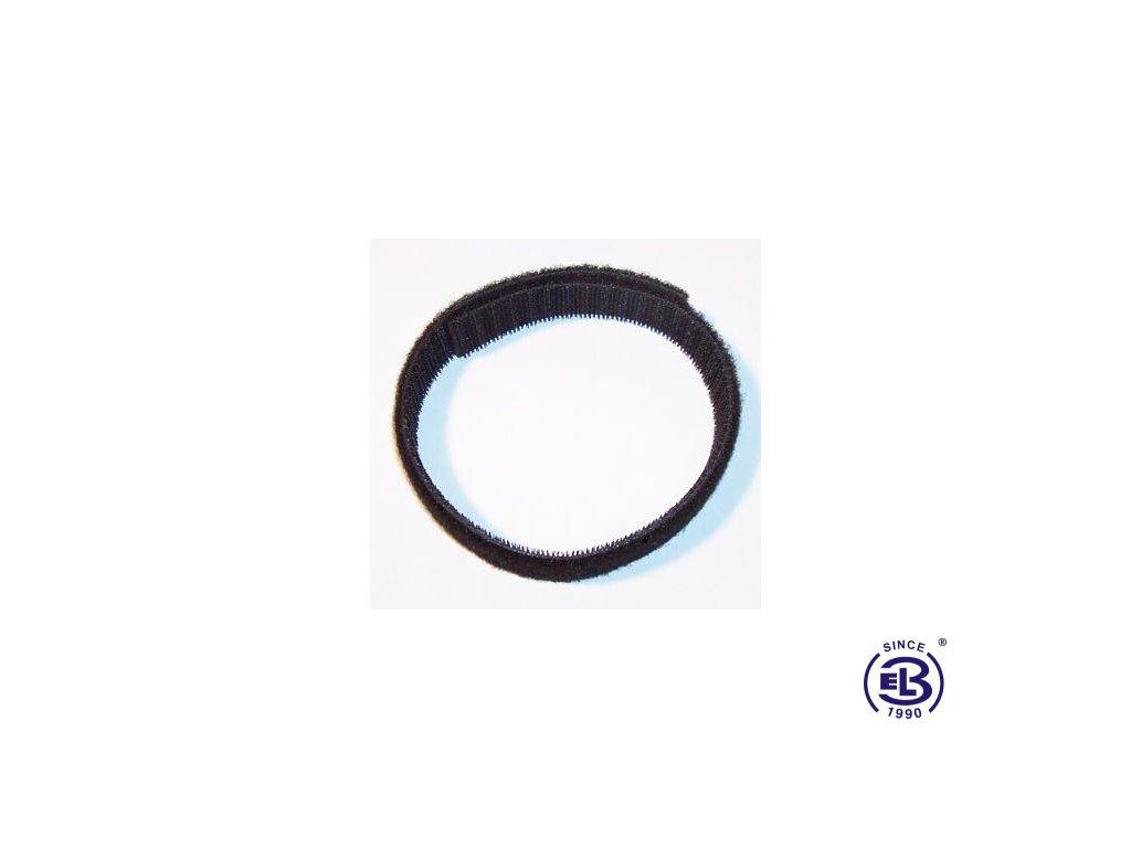 Suchý zip oboustranný, šířka 10mm, černý, balení 25m SOLARIX