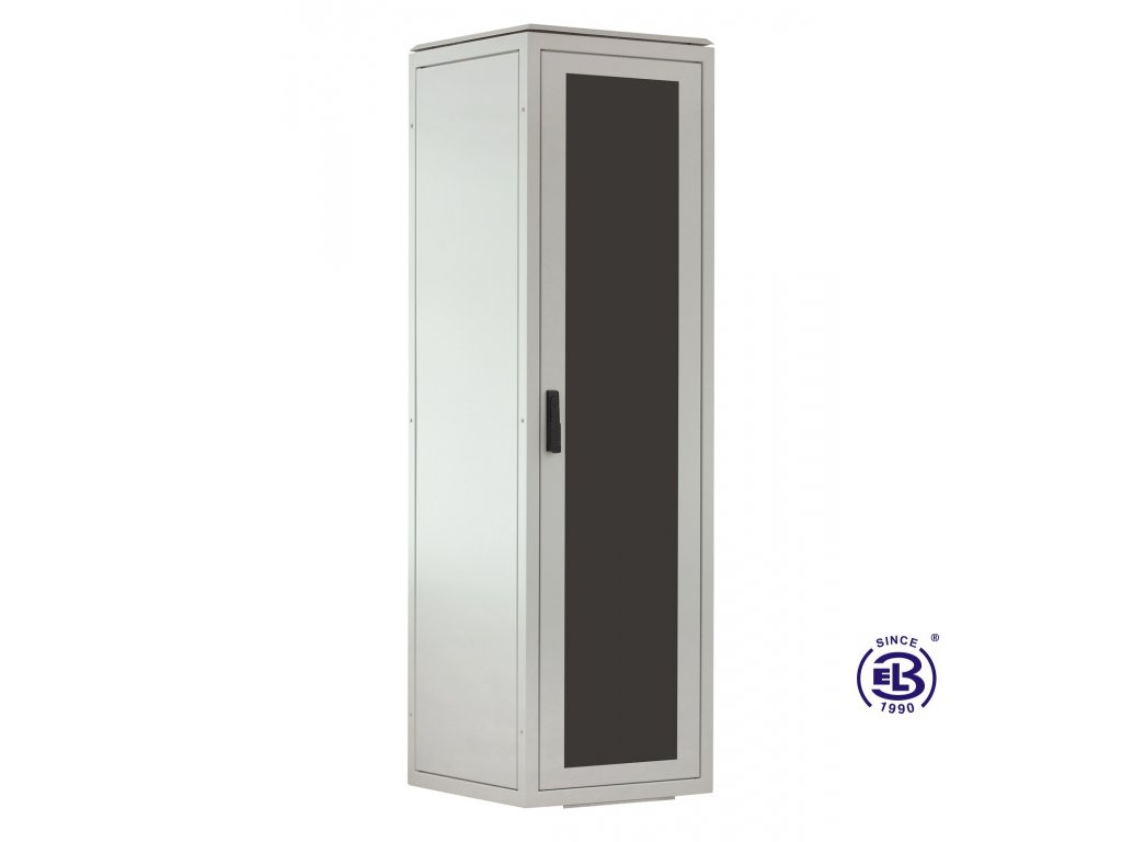 Rozvaděč stojanový LC-06+, 32U, 800x800, šedý, skleněné dveře