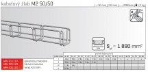 Kabelový žlab MERKUR 2, M2 50/50mm, 2000mm ARK - 211110 GZ, ARKYS