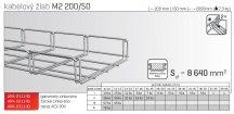 Kabelový žlab MERKUR 2, M2 200/50mm, 2000mm ARK - 221140 ŽZ, ARKYS