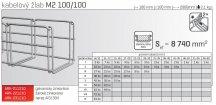Kabelový žlab MERKUR 2, M2 100/100mm, 2000mm ARK - 211210 GZ, ARKYS