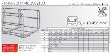 Kabelový žlab MERKUR 2, M2 150/100mm, 2000mm ARK - 211220 GZ, ARKYS