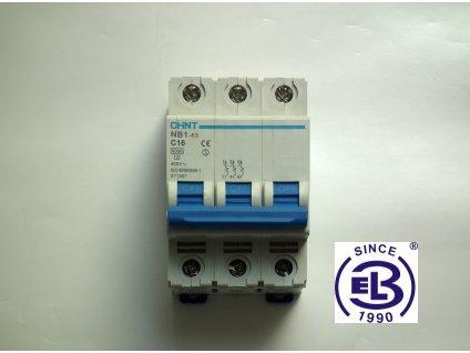 Jistič 10/3/B 6kA NB1-63 CHINT