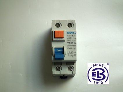 Proudový chránič elektromagnetický 25A/1+N/0,01  NL1-63 ChiNT