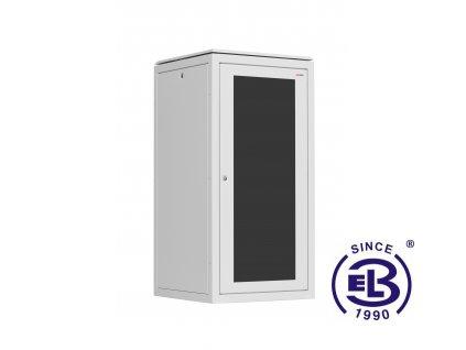 Rozvaděč stojanový SENSA, 15U, 600x600, šedý, skleněné dveře
