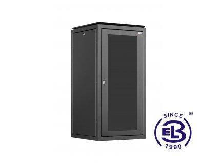 Rozvaděč stojanový SENSA, 32U, 600x800 BK, skleněné dveře
