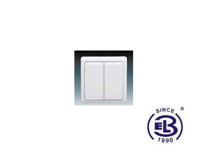 Přepínač střídavý dvojitý Classic, jasně bílý, řazení 6+6 (6+1), 3553-52289B1 ABB