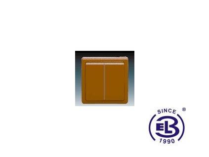 Přepínač střídavý dvojitý Classic, hnědý, řazení 6+6 (6+1), 3553-52289H3 ABB