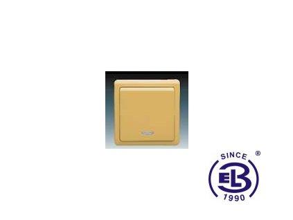 Přepínač střídavý s orientační doutnavkou Classic, béžový, řazení 6So (1So), 3553-27289D2 ABB