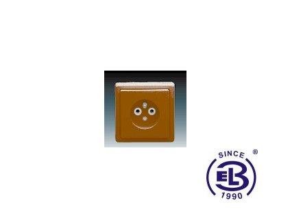 Zásuvka jednonásobná s ochranným kolíkem Classic, hnědá, řazení 2P+PE, 5517-2389H3 ABB