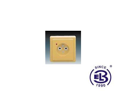 Zásuvka jednonásobná s ochranným kolíkem, s ochranou před přepětím Classic, béžová, řazení 2P+PE, 5597-2389D2 ABB