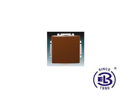 Spínač jednopólový s krytem Swing/Swing L, hnědý, řazení 1, 3557G-A01340H1 ABB
