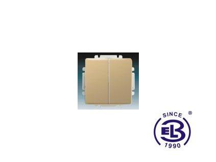 Přepínač střídavý dvojitý s krytem Swing/Swing L, béžový, řazení 6+6 (6+1), 3557G-A52340D1 ABB