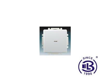 Přepínač střídavý s krytem, s průzorem Swing/Swing L, jasně bílý, řazení 6So, 3557G-A06341B1 ABB