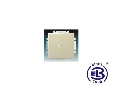 Přepínač křížový s krytem, s průzorem Swing/Swing L, krémový, řazení 6So, 3557G-A07341C1 ABB