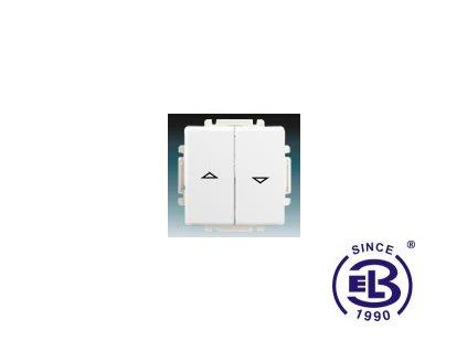 Spínač žaluziový jednopólový s krytem Swing/Swing L, jasně bílý, řazení 1+1 s blokováním, 3557G-A89340B1 ABB