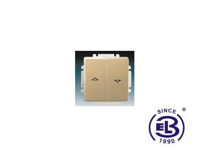 Spínač žaluziový jednopólový s krytem Swing/Swing L, béžový, řazení 1+1 s blokováním, 3557G-A89340D1 ABB