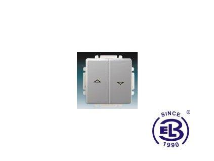 Ovládač žaluziový jednopólový s krytem Swing/Swing L, světle šedý, řazení 1/0+1/0 s blokováním, 3557G-A88340S1 ABB