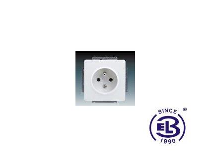 Zásuvka jednonásobná s ochranným kolíkem Swing/Swing L, jasně bílá, řazení 2P+PE, 5518G-A02349B1 ABB