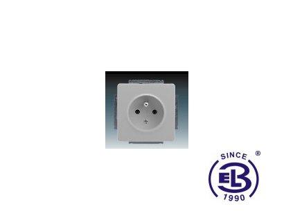 Zásuvka jednonásobná s ochranným kolíkem Swing/Swing L, světle šedá, řazení 2P+PE, 5518G-A02349S1 ABB