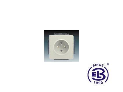Zásuvka jednonásobná s ochranným kolíkem, s clonkami Swing/Swing L, krémová, řazení 2P+PE, 5518G-A02359C1 ABB