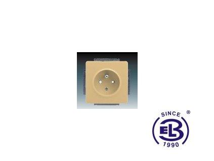 Zásuvka jednonásobná s ochranným kolíkem, s clonkami Swing/Swing L, béžová, řazení 2P+PE, 5518G-A02359D1 ABB