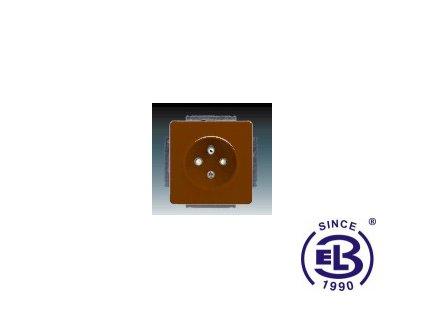 Zásuvka jednonásobná s ochranným kolíkem, s clonkami Swing/Swing L, hnědá, řazení 2P+PE, 5518G-A02359H1 ABB