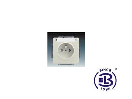 Zásuvka jednonásobná s ochranným kolíkem, s clonkami, s popisovým polem Swing/Swing L, krémová, řazení 2P+PE, 5518G-A02352C1 ABB