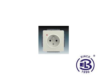 Zásuvka jednonásobná s ochranným kolíkem, s ochranou před přepětím Swing/Swing L, krémová, řazení 2P+PE, 5598G-A02349C1 ABB