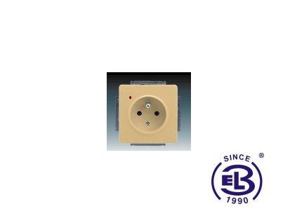 Zásuvka jednonásobná s ochranným kolíkem, s ochranou před přepětím Swing/Swing L, béžová, řazení 2P+PE, 5598G-A02349D1 ABB