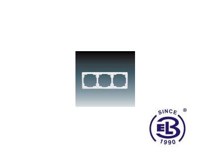 Rámeček pro elektroinstalační přístroje trojnásobný Swing, jasně bílý, 3901G-A00030B1 ABB