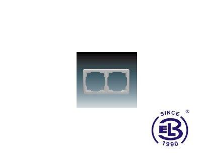 Rámeček pro elektroinstalační přístroje dvojnásobný Swing, světle šedý, 3901G-A00020S1 ABB
