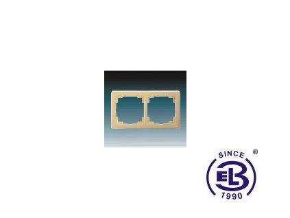 Rámeček pro elektroinstalační přístroje dvojnásobný Swing, béžový, 3901G-A00020D1 ABB