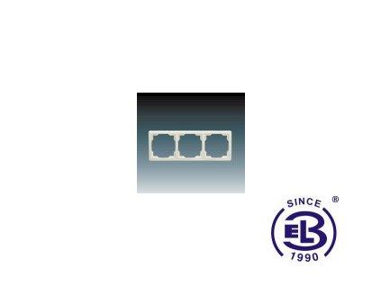 Rámeček pro elektroinstalační přístroje trojnásobný Swing, krémový, 3901G-A00030C1 ABB