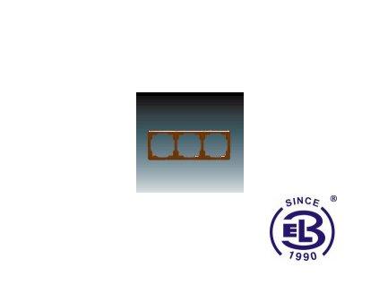 Rámeček pro elektroinstalační přístroje trojnásobný Swing, hnědý, 3901G-A00030H1 ABB