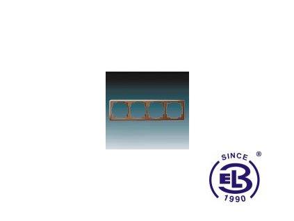 Rámeček pro elektroinstalační přístroje čtyřnásobný Swing, hnědý, 3901G-A00040H1 ABB
