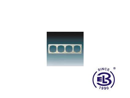 Rámeček pro elektroinstalační přístroje čtyřnásobný Swing, krémový, 3901G-A00040C1 ABB