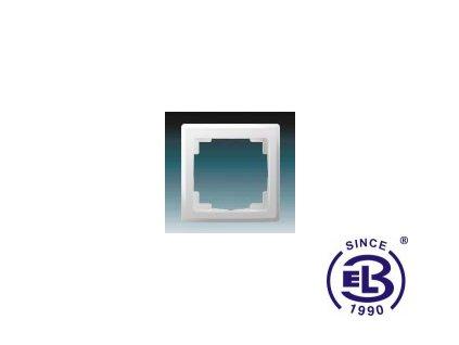 Rámeček pro elektroinstalační přístroje jednonásobný Swing L, jasně bílý, 3901J-A00010B1 ABB