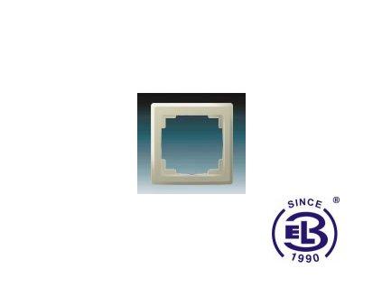 Rámeček pro elektroinstalační přístroje jednonásobný Swing L, krémový, 3901J-A00010C1 ABB